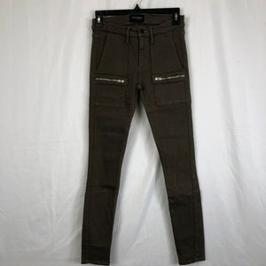 Black Orchid Olive Green Skinny Jean With Pockets